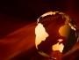 Orange Spinning Globe