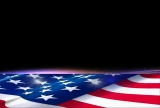 American Flag Lower Third Background