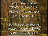 Thoughts on Comfort Zones