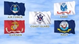 US Military Flags widescreen