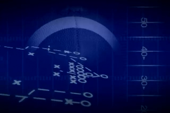 blue football motion background