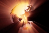 Transparent Oceans Globe Warm Shine