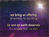 Offering Christmas Version iWorship VideoTrax 11 - Christmas: We Adore You