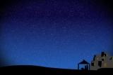 Nativity Scene Silhouette and Starlight