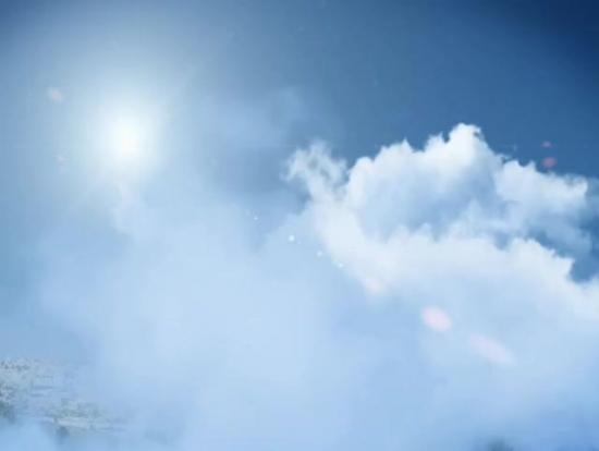 background  sun through clouds