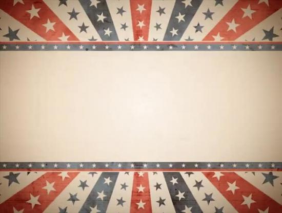 stars and stripes vintage background loop motion worship