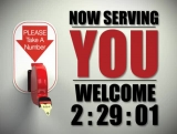 Now Serving You Welcome Countdown