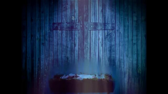 baby jesus and cross