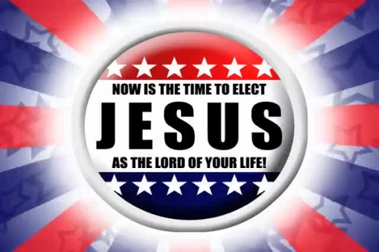 Elect jesus as lord of your life red letter productions for For how long do we elect the president