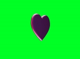 3d Heart With Green Screen