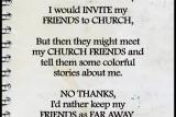 Church Invitation EXCUSES