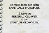 Spiritual Growth EXCUSES