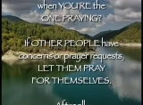 Thoughts on Praying for Others