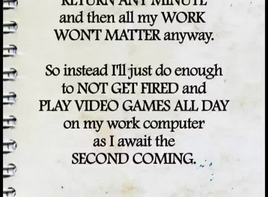Work Excuses Moving Pictures Sermonspice