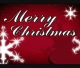 Merry Christmas Snowflake Loop 4:3 (Red)