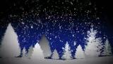 Tree and Snow Loop 16:9 (Blue)