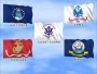 US Military Flags SD