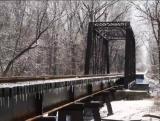 Icy Railroad Trestle - sd