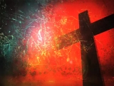 The Cross of Calvary with Grunge Background