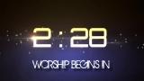 Worship Begins in 5:00 Widescreen