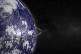 Blue Marble Earth with John 3:16 Left