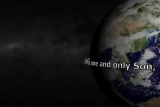 Blue Marble Earth with John 3:16 Right