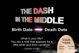 Dash in Middle Title Banner Your Name