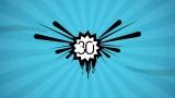 Blue Starburst Countdown 60 Seconds