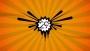Orange Starburst Countdown 60 Seconds