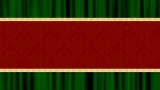 Red Christmas Ribbon with Green Curtain Background Loop (WIDESCREEN)