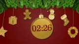 Swinging Christmas Ornaments 5 Minute Countdown (WIDE)