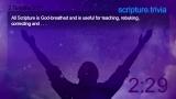 Trivia Countdown 02 of 10 - Scripture Challenge 1