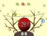 Merry Christmas Reindeer Welcome Countdown