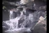 Waterfall with cross