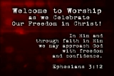 Freedom in Christ L39 Welcome